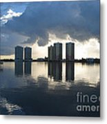 Early Morning Reflection Metal Print