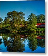Early Morning Rest Stop Metal Print
