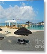 Early Morning Shade On A Tropical Beach   Metal Print