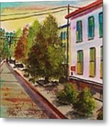 Early Morning Side Street  Metal Print