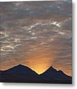 Early Morning Sunlight Shining From Metal Print