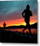 Early Morning Trail Running Metal Print