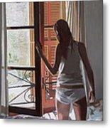 Early Morning Villa Mallorca Metal Print