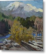 Early Snow Cascade Mountains Metal Print