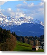 Early Snow In The Swiss Mountains Metal Print