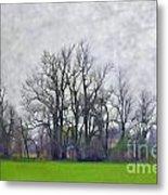 Early Spring Landscape  Digital Paint Metal Print