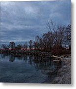 Early Still And Transparent - On The Shores Of Lake Ontario In Toronto Metal Print