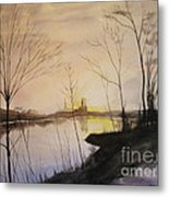 Early Winter Riverside Metal Print