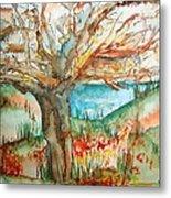Early Winter Tree Metal Print