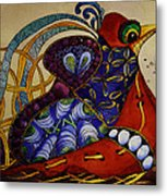 Early Worm Gets The Bird Metal Print
