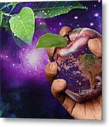Earth Apple Metal Print