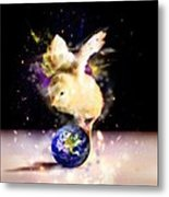 Earth Chick Metal Print
