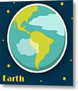 Earth Metal Print by Christy Beckwith