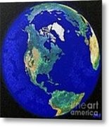 Earth From Space America Metal Print