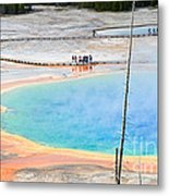 Earth Rainbow - Overhead View Of Grand Prismatic Spring In Yellowstone National Park.  Metal Print