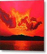 Earth Sunset Metal Print