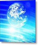Earth Technology Background Metal Print by Michal Bednarek