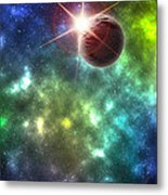 Earth The Final Frontier  Metal Print