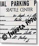 Earth Wind Fire Seattle Parking Permit Metal Print