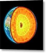 Earths Internal Structure, Artwork Metal Print