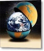Earths Protective Cover Metal Print