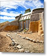 Earthship Taos  Metal Print by Shanna Gillette
