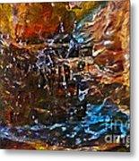 Earthy Abstract Metal Print
