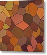 Earthy Angles Metal Print