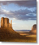 East And West Mittens Monument Valley Metal Print