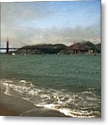East Beach And Golden Gate Metal Print