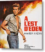 East Of Eden, French Poster Art, James Metal Print