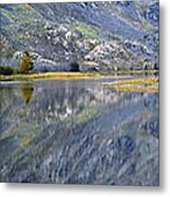 East Rosebud Lake Fall Panorama Metal Print by Roger Snyder