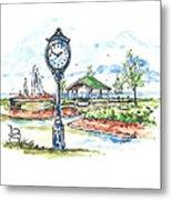 East Tawas Harbor Park Metal Print
