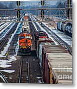 Eastbound And Westbound Trains Metal Print