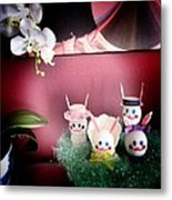 Easter And Orchids Metal Print