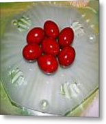 Easter And Red Eggs Metal Print