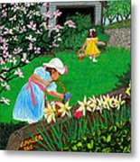Easter At Grandma's Metal Print by Edward Fuller