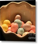 Easter Candy Malted Milk Balls I Metal Print