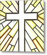 Easter Cross 3 Metal Print