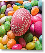 Easter Egg And Jellybeans  Metal Print