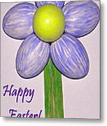 Easter Egg Flower Metal Print