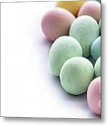 Easter Eggs Candy Panorama Metal Print