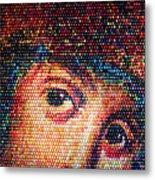 Easter Eggs Mosaic Metal Print