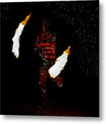 Easter Island Fire Dance Metal Print