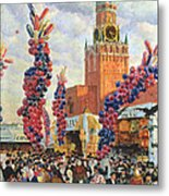 Easter Market At The Moscow Kremlin Metal Print