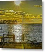 Eastern Shore Sunset Metal Print