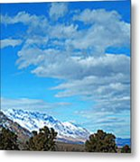 Eastern Sierras Panoramic - U S 395 California Metal Print