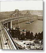 Eastern Span Of San Francisco-  Oakland Bay Bridge Circa 1937 Metal Print