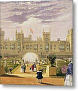 Eastern View Of The Castle And Garden Metal Print