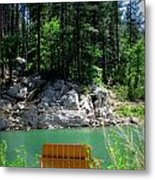 Easy Day At The Lake Metal Print